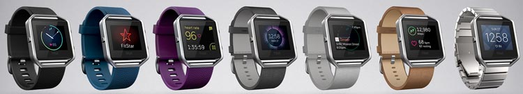 The new Fitbit Blaze comes in a wide range of colors and combos