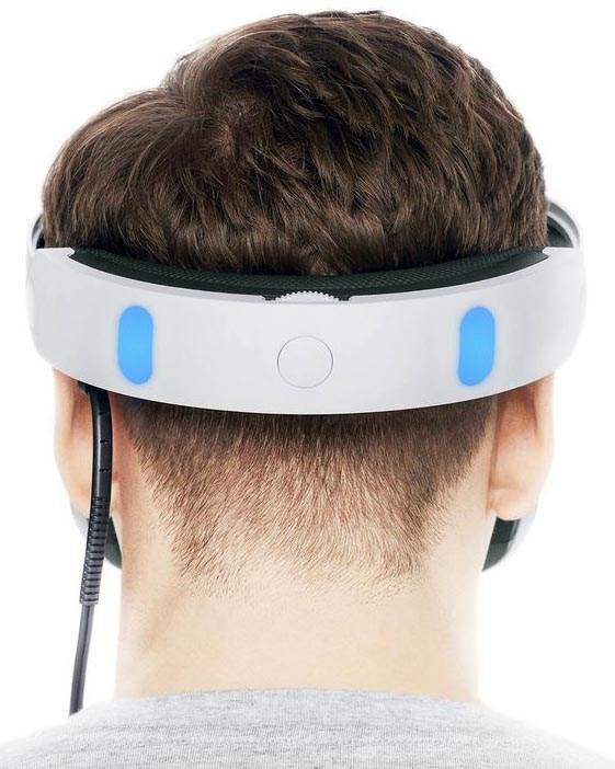 When you are wearing a Sony PlayStation VR, the screen appears so large that it is like an IMAX experience, right in your own head. Yet it is actually quite sleek, and super light and comfortable. You can adjust the fit at the back, as easily as a bike helmet