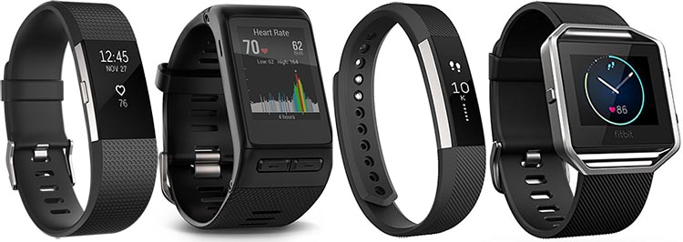 The top four best selling wearable tech items of 2016 all happen to be fitness trackers: the Fitbit Charge 2, the Garmin Vivoactive HR GPS smartwatch, the Fitbit Alta, and the Fitbit Blaze
