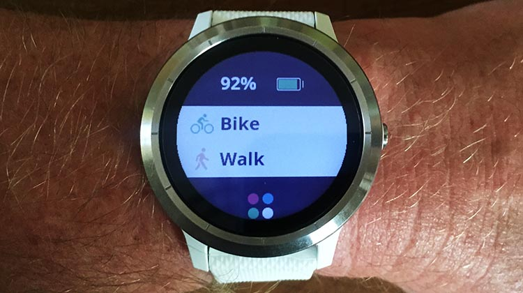 How to Use Your Garmin Vivoactive 3 to Record an Activity. Your Garmin Vivoactive has a button on the right-hand side.